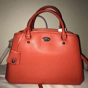 Brand new coach pumpkin satchel